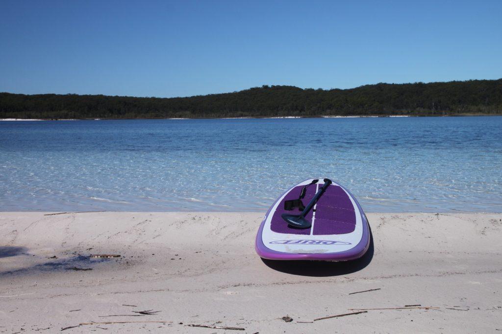 Stand Up Paddleboarding on Lake McKenzie - Fraser Island Australia