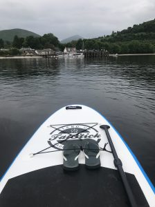 Luss from Stand Up Paddleboard on Loch Lomond