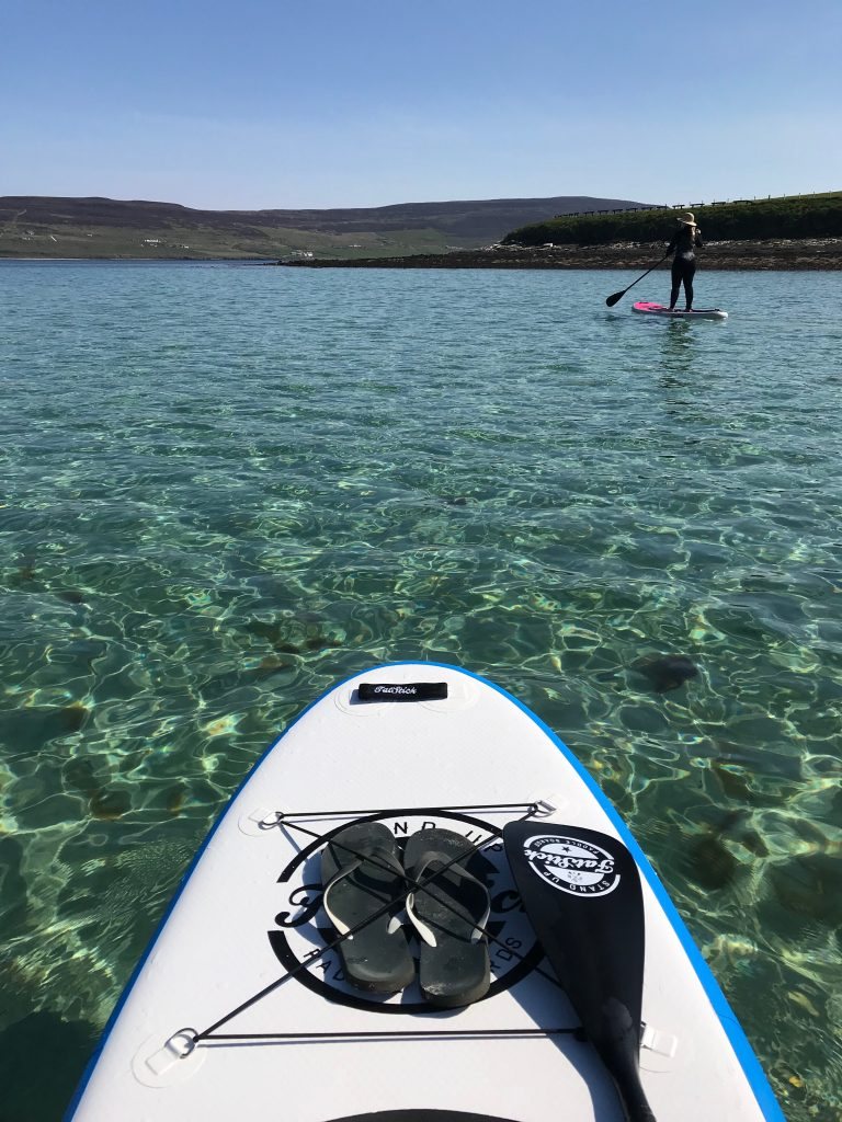 Stand Up Paddleboarding Evie Beach, Orkney