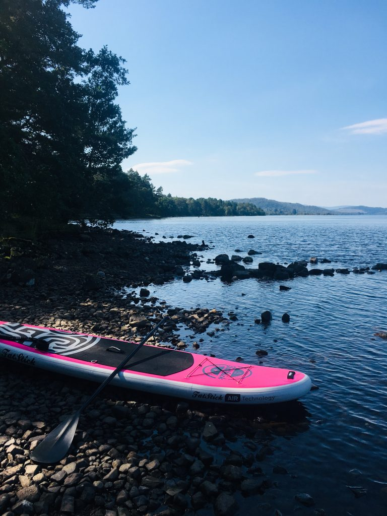Pink Panther iSUP at Loch Rannoch