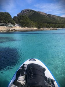 Stand Up paddleboarding on beach Majorca