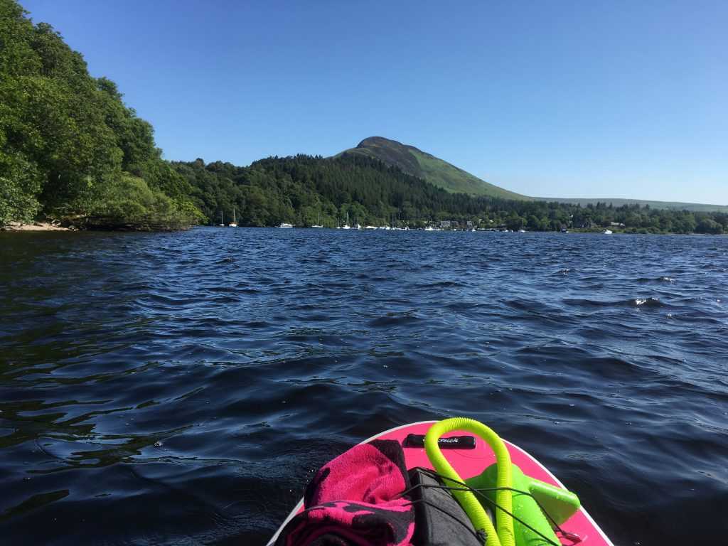 Stand Up Paddleboarding on Loch Lomond