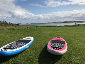 Pink Panther and Blue Lagoon iSUP on Isle of Harris