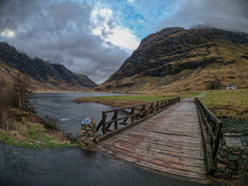 Glencoe is one of the most atmospheric locations to Stand Up Paddle in Scotland