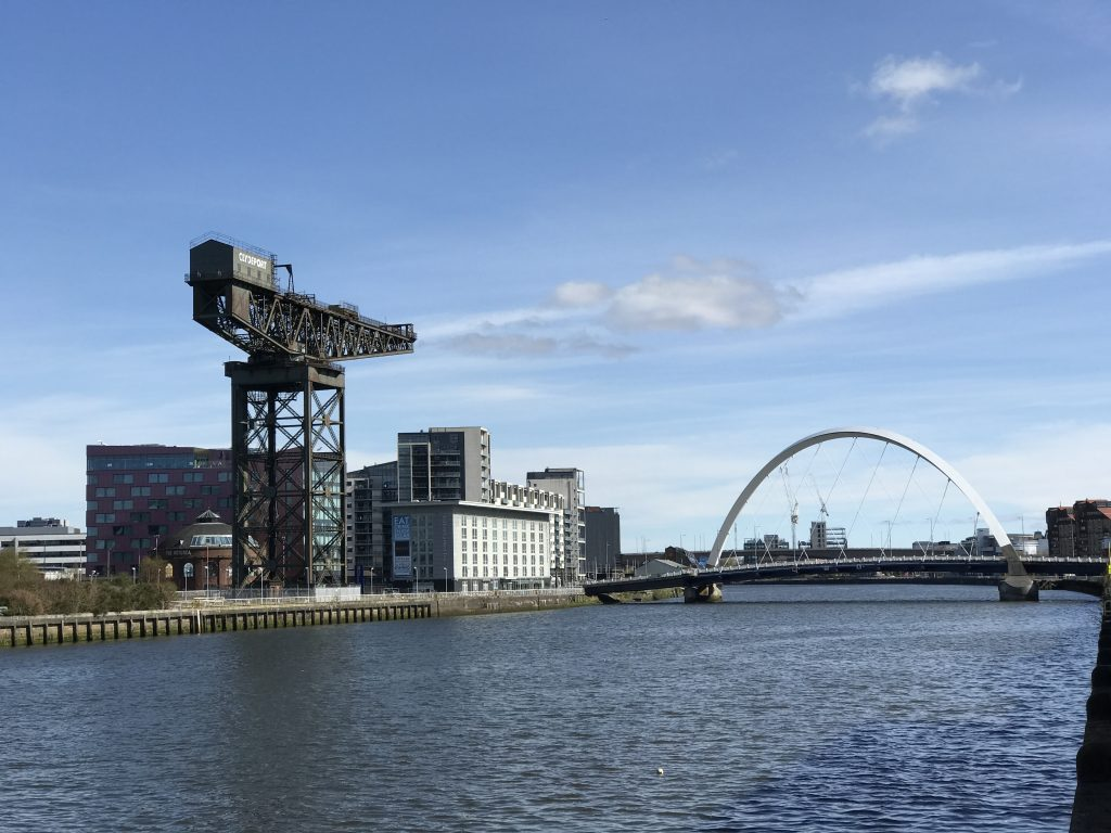 The River Clyde with it's rich maritime history makes a great place to stand up paddle