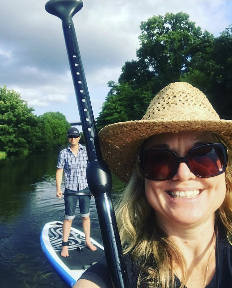 Stand Up Paddleboarding on the Forth and Clyde Canal - a must for the SUP-it list