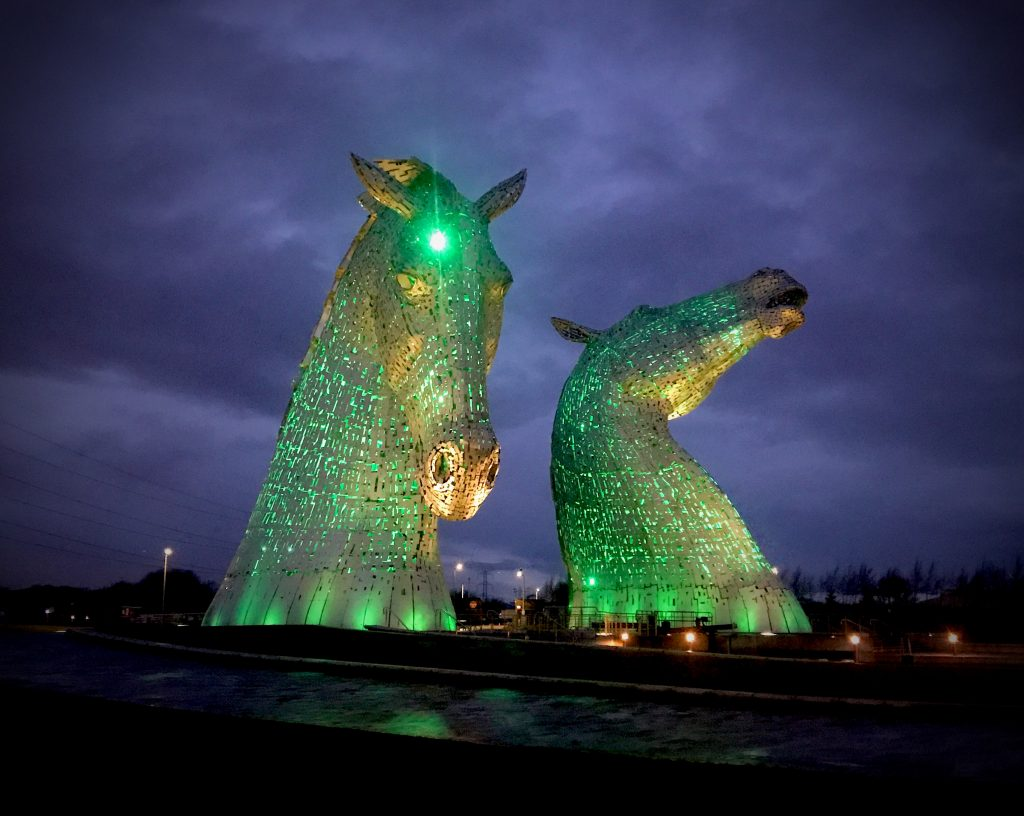 The Kelpies - and ideal SUP-it List for stand up paddleboarding location