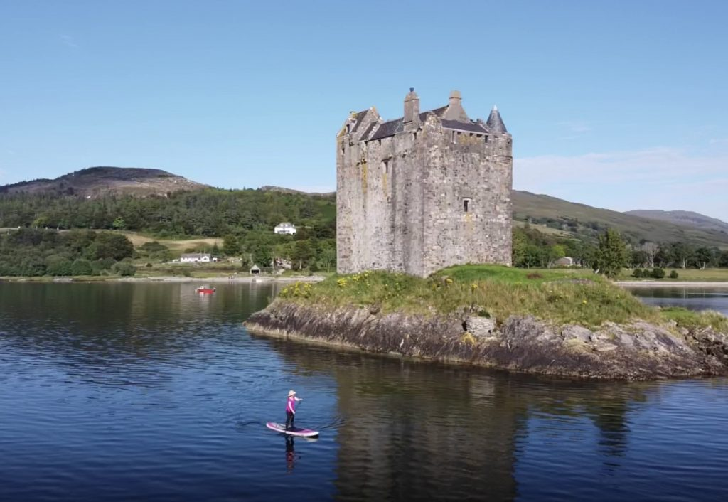 Castle Stalker on Loch Linnhe - a great SUP-it List for stand up paddleboarding location