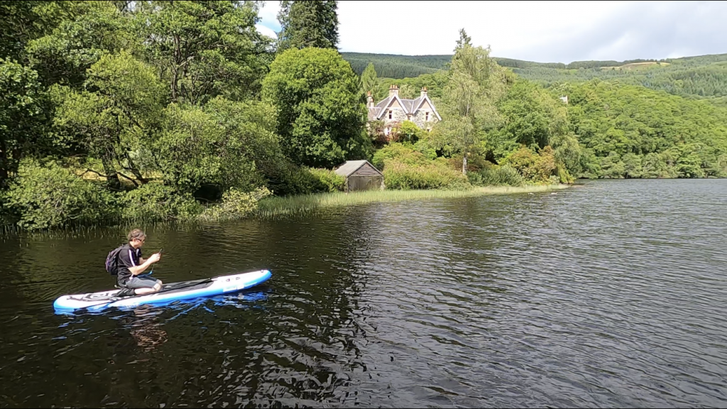 Stand Up Paddleboarding Loch Ard Narrows