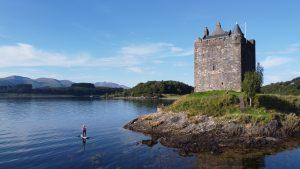Stand Up Paddleboarding at Castle Stalker - Scotland
