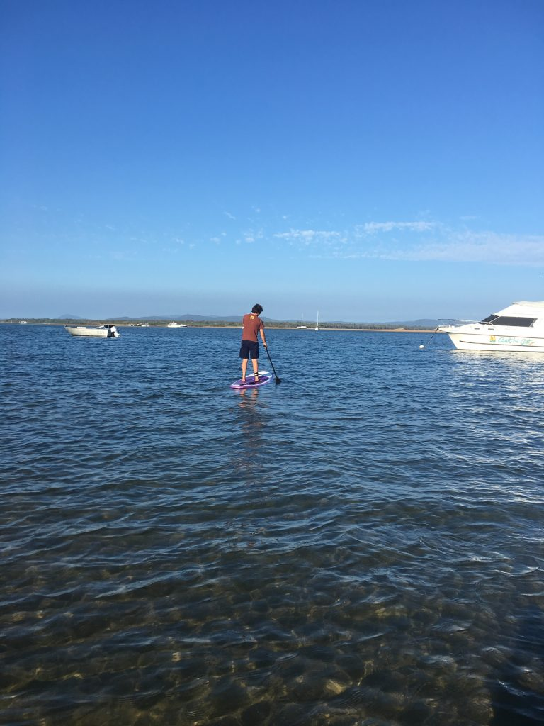 Stand Up Paddleboarding at the Town of 1770