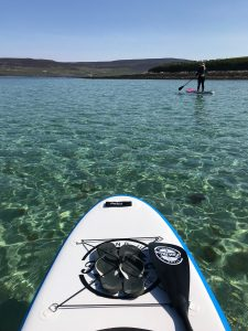 Stand Up Paddleboarding in a wetsuit