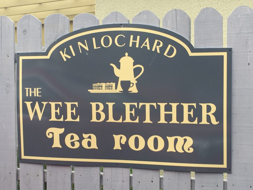 A stop at The Wee Blether Tea Room to refuel after Stand Up Paddleboarding