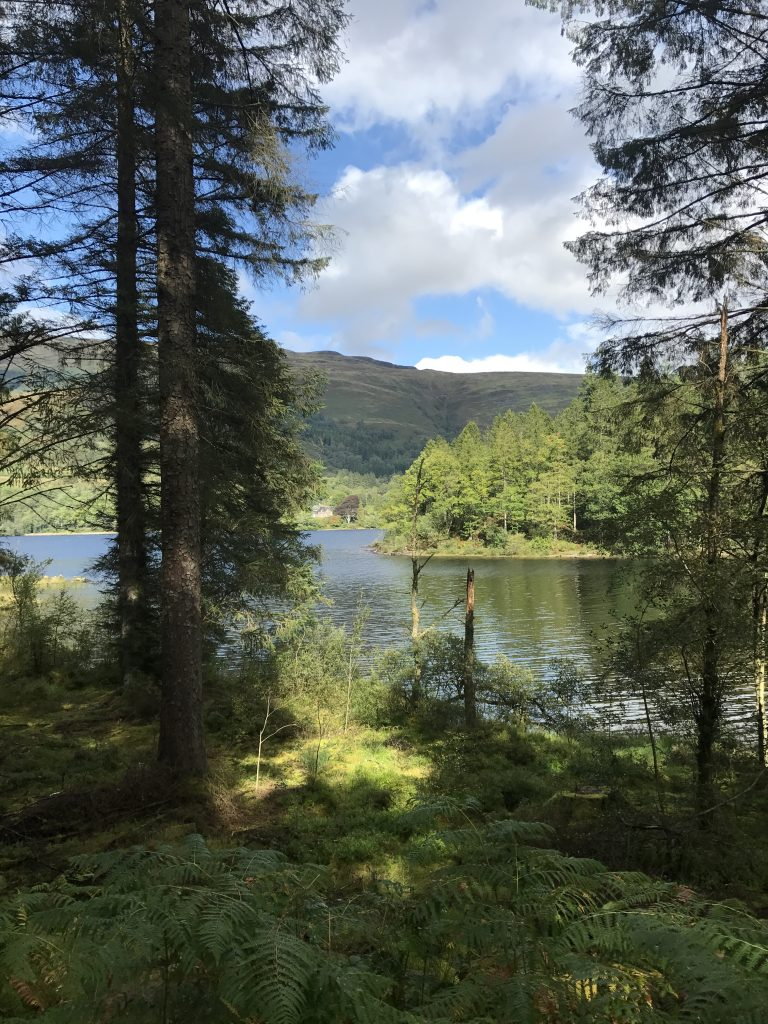 Loch Ard is a stunning location for stand up paddleboarding