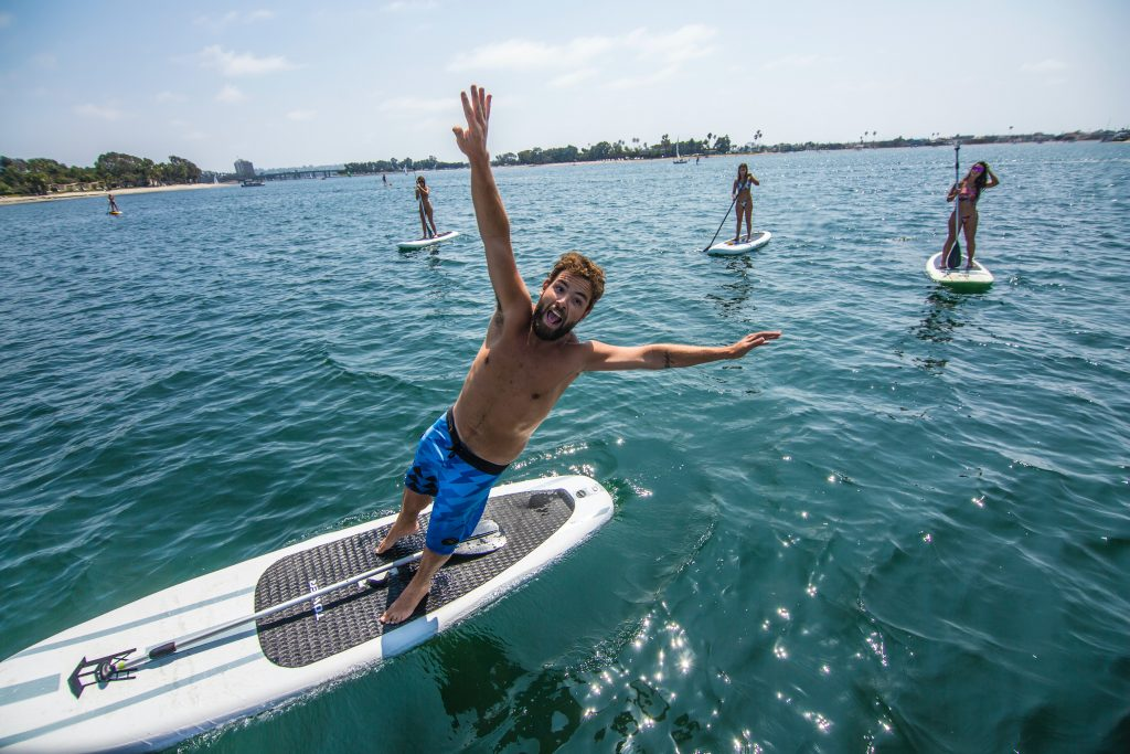 Falling off Stand Up Paddleboard