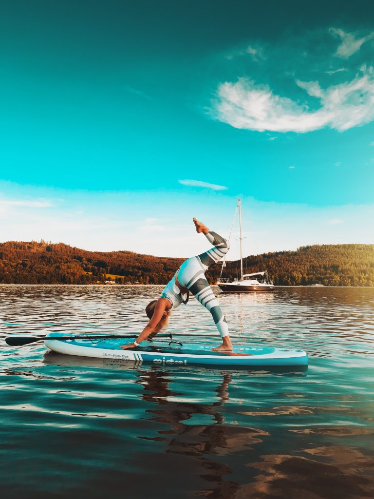 Stand Up Paddleboard Yoga flexibility