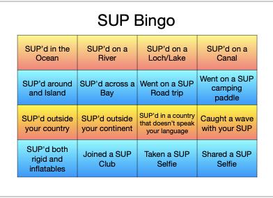 SUP Bingo