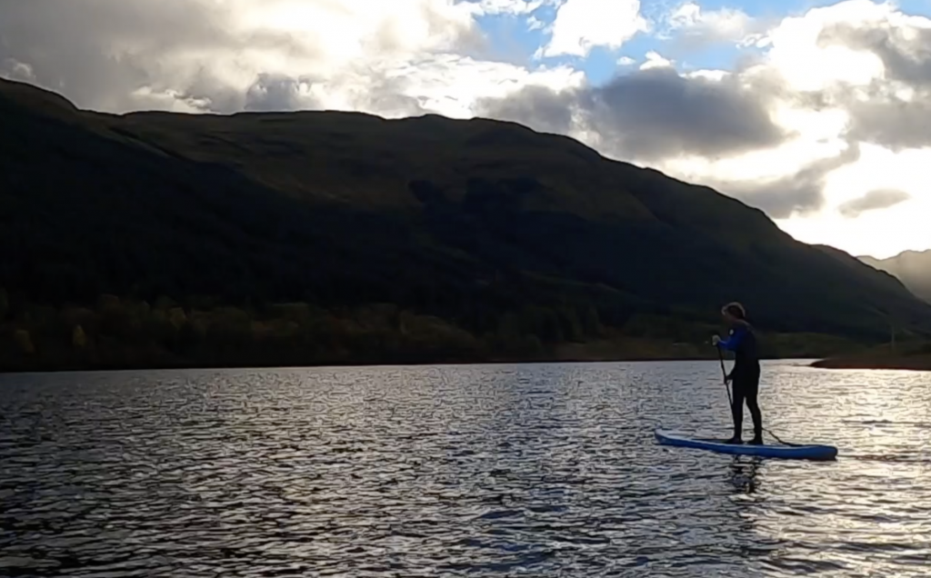 Stand Up Paddleboarding on Loch Voil