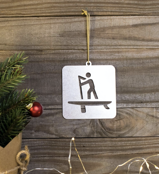 Stand Up Paddleboard gift tag/ tree decoration