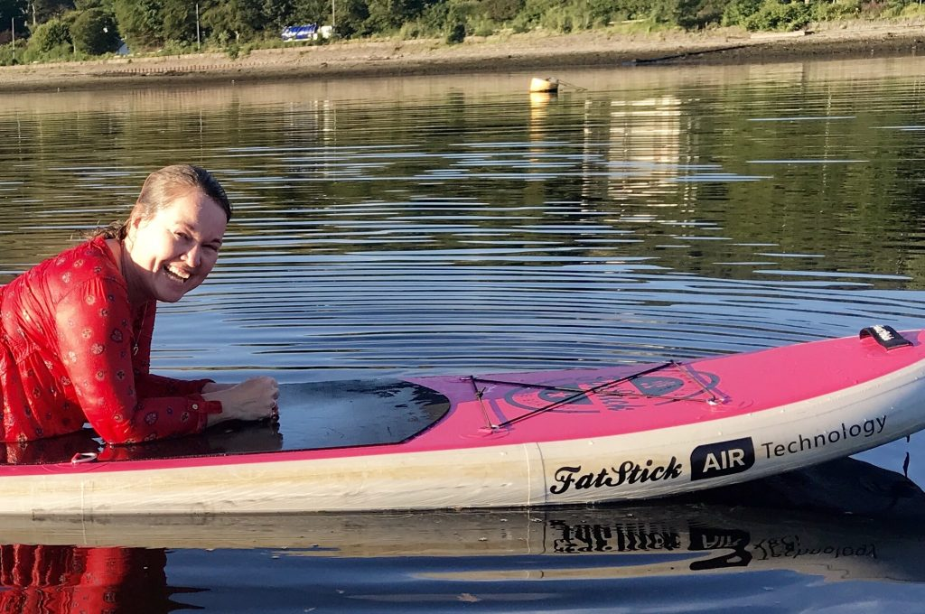 Lying on Stand Up Paddleboard