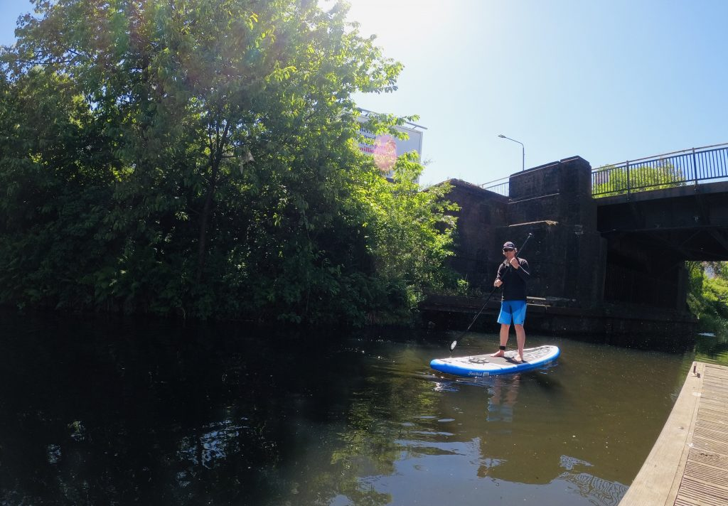 Stand Up Paddleboarder on Clyde and Forth Canal