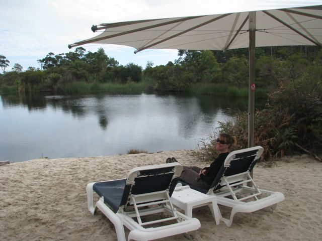 Lounge Chairs overlooking the lagoon