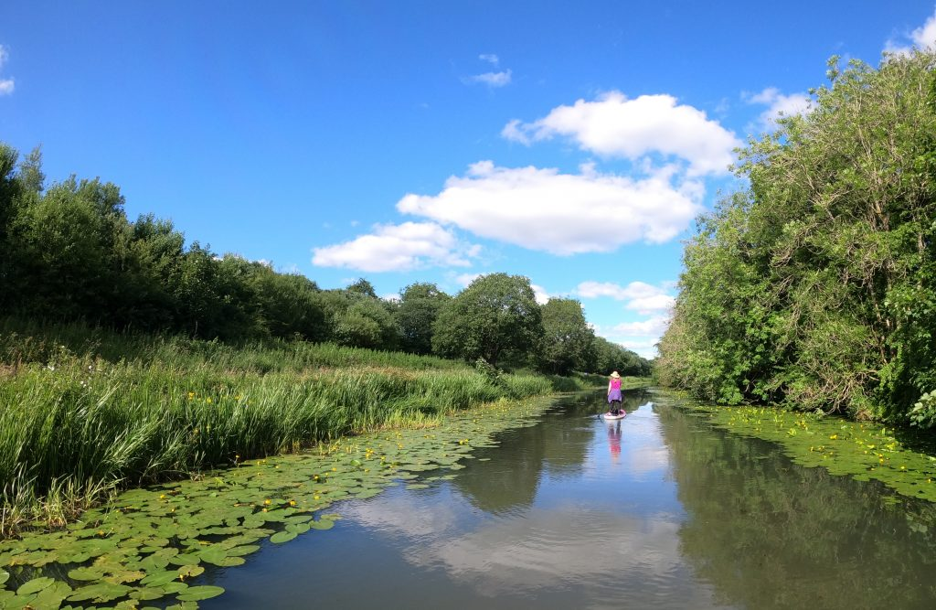 Stand Up Paddleboarding on Clyde and Forth Canal