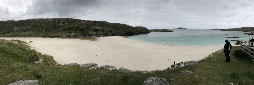 Bostadh Beach Isle of Lewis - a sandy white beach in a protected bay