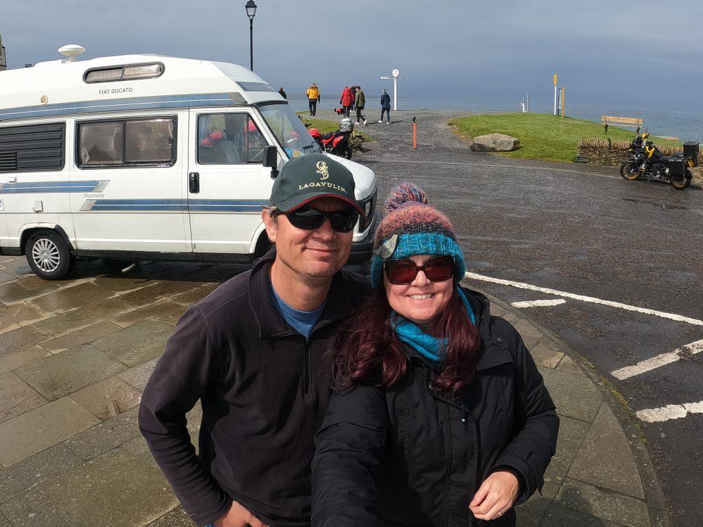 John o Groats couple and van North Coast 500