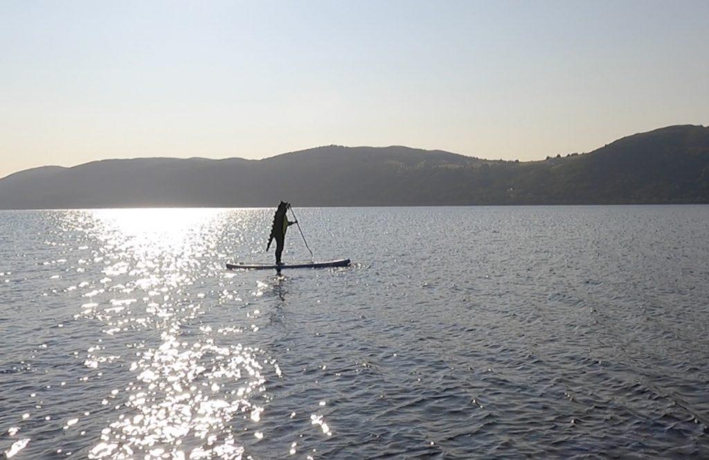 Loch Ness monster Paddleboarding