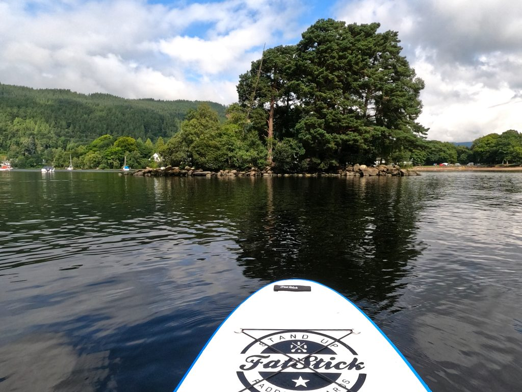 Stand Up Paddleboard on Loch Tay