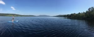 Stand Up Paddleboarding on Loch Rannoch