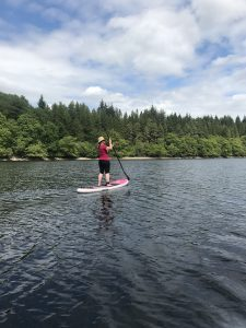 Stand Up Paddleboarding on Loch Drunkie