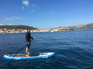 Stand Up Paddleboarding in Korcula