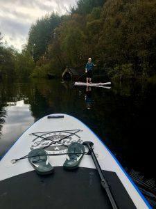 Stand Up Paddleboarding on Loch Chon