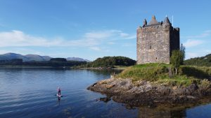 Stand Up Paddleboarding at Castle Stalker - Scotland